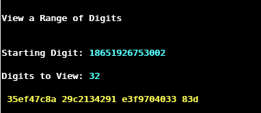 last hexadecimal digits of pi